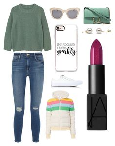 """""""Sans titre #3419"""" by merveille67120 ❤ liked on Polyvore featuring MANGO, Frame, Converse, Full Tilt, Casetify, Perfect Moment, Chloé and NARS Cosmetics"""