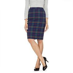 Plaid Pencil Skirt- Target