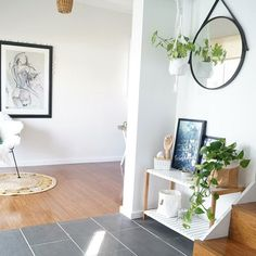 Make a statement in your entryway with a Mocka Jimmy Stand and kmart mirror. Styling by Moore Creative.
