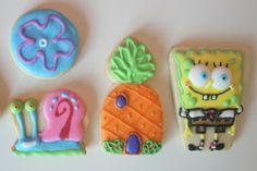 Postreadicción galletas decoradas, cupcakes y pops: Galletas de Bob Esponja