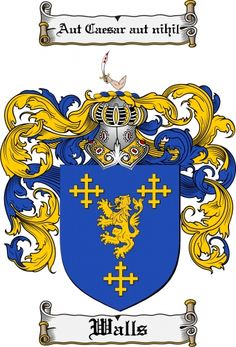 Walls Coat of Arms Walls Family Crest Instant Download - for sale, $7.99 at Scubbly