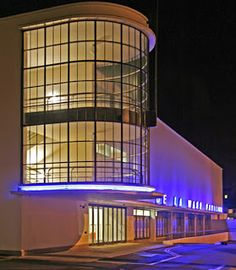 De La Warr Pavilion, Bexhill, East Sussex. Designed by Serge Chermayeff and Erich Mendelsohn in 1935.