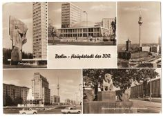 Old postcards East Berlin 1972 - 145x103