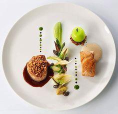 Signature Dish by Stephane Buron -France- Food Plating Techniques, Beaux Desserts, Michelin Star Food, Food Decoration, Molecular Gastronomy, Culinary Arts, Food Presentation, Creative Food, Food Design