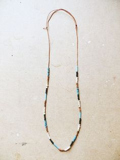 beaded colorblock necklace
