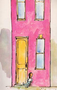 Quentin Blake's World of Whimsy – ecru Quentin Blake Illustrations, Roald Dahl Books, Children's Book Illustration, Book Illustrations, Drawing Practice, Pretty Art, Amazing Art, Illustrators, Children's Books