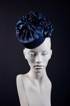 619b53eb4fb Beautiful cocktail pillbox hat made of draped by ChapeauEgoiste Sequin  Fabric