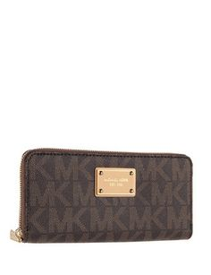 50067c6877798 Michael Michael Kors Signature Print Logo Zip Around Continental Wallet