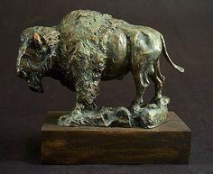 Original Animal Sculpture by Frank Cole Western Decor, Western Art, Bronze Sculpture, Lion Sculpture, Wyoming Cowboys, Native American Warrior, Trophy Rooms, Lewis And Clark, Scrap Metal Art