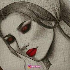 Portrait Drawings by Doaa Moaz Portrait Sketches, Art Drawings Sketches, Pencil Drawings, Pencil Portrait, Girly Drawings, Easy Drawings, Rik Lee, Black Cat Tattoos, Arte Disney