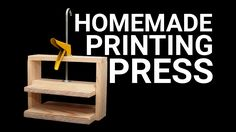 I made a simple printing press for block printing. This press is cheap, easy to…