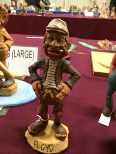 Wood carving by Bart Wilson at the show in Charlotte NC