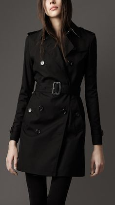 Burberry - MID-LENGTH COTTON BLEND HERITAGE TRENCH COAT