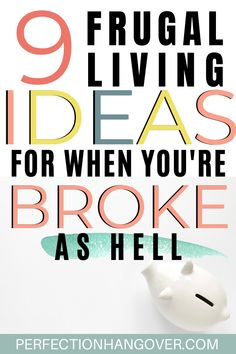 Tired of living paycheck and paycheck and being broke? These 9 frugal living hacks are ideas to save money and practice frugality. Only the most extreme frugal living folks try these! Living On A Budget, Frugal Living Tips, Frugal Tips, Ways To Save Money, Money Tips, Money Saving Tips, Financial Guru, Financial Literacy, Hustle Money