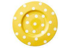 Dots Salad Plates, Yellow