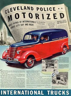 Cleveland Police Motorized! 1939 International Truck
