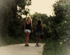 Long board <3. Molly me and U rollin around west woods LOL
