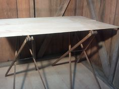 Portable Folding Table Legs, Vintage Wallpaper Table