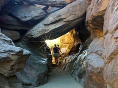 Tucked into Phoenix's South Mountain, Hidden Valley's slot canyon and long stone tunnel are fun to explore! The Mormon Hiking Trail leads to these wonders.
