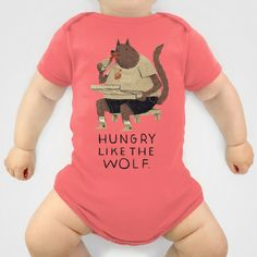 hungry like the wolf Onesie, seriously tickled my funny bone