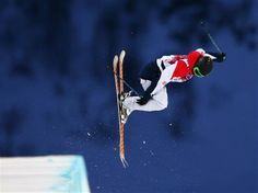 Emma Lonsdale of Great Britain competes in the Freestyle Skiing Ladies' Ski Halfpipe Qualification on Day 14 of the 2014 Winter Olympics at Rosa Khutor Extreme Park. Sochi 2014 Day 14 - Freestyle Skiing Ladies' Ski Halfpipe Qualification.