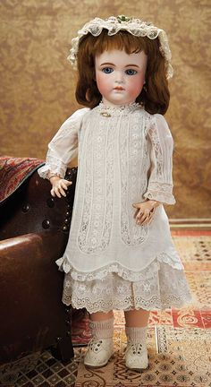 View Catalog Item - Theriault's Antique Doll Auctions     Rare Early German Bisque Child Doll,182,by Mystery Maker