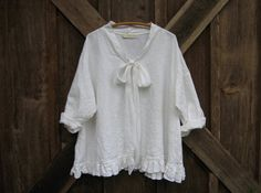 linen top flare design in white ready to ship by linenclothing