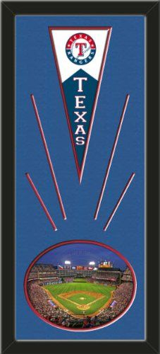 Texas Rangers Wool Felt Mini Pennant & Rangers Ballpark 2009 Photo - Framed With Team Color Double Matting In A Quality Black Frame-Awesome & Beautiful-Must For A Championship Team Fan! Most NFL, MLB, NBA, Teams Available-Plz Mention In Gift Message If Need A different Team Art and More, Davenport, IA http://www.amazon.com/dp/B00I1C71HO/ref=cm_sw_r_pi_dp_FvtEub02231K7