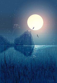 Romantic art by Pascal Campion Art . Pascal Campion, Anime Scenery, Digital Illustration, Amazing Art, Cool Art, Concept Art, Art Drawings, Art Photography, Anime Art