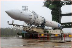 Russia's Angara 1.2PP rocket roll out.