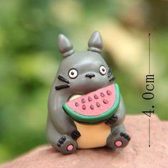 Barato Kawai Anime japonês Ha yao Anime meu vizinho Totoro melancia brinquedo Mini estatueta figuras de resina Terrariums Brinquedos miniatura, Compro Qualidade Ação e personagens diretamente de fornecedores da China:         Item especificações] altura: 4-5 cm     (1polegada = 2,54 cm)               [Material] resina figura