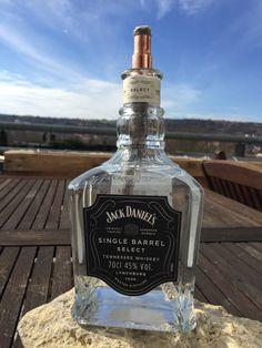 DIY - JACK DANIELS Petrolium Lampe selbst gebaut » DeissenBlog Whiskey Bottle, Vodka Bottle, Tennessee Whiskey, Jack Daniels Whiskey, Barrel, Handmade, Jack Daniels Bottle, Bottle Candles, Flasks