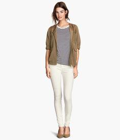 Slim-fit Pants in white