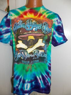 THE ALLMAN BROTHERS TOUR 2008 TIE DYE TYE DIE Mens T Shirt Size XL #other #BasicTee