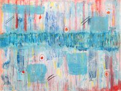 "Abstract painting gouache ""Manja"" #art #marinadewit"