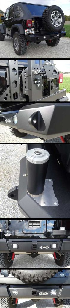 2007-2014 Jeep JK Signature Series Shorty Door Linked Bumper w/ Generation 4 Tire Carrier