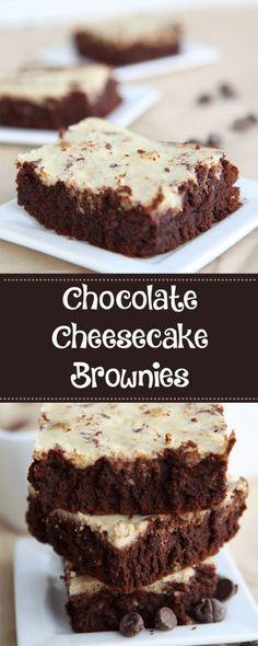 Chocolate Cheesecake Brownies - YUM!