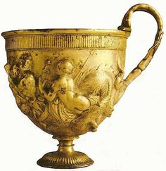 Ancient Roman Gold Cup,from Pompei. Early Imperial Period, 1stC B.C.