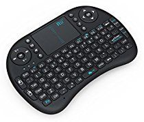 Rii i8 Mini 2.4GHz Wireless Touchpad Keyboard with Mouse for PC, PAD, XBox 360, PS3, Google Android TV Box, HTPC, IPTV (2.4G Black)