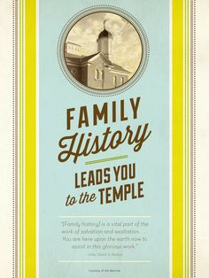 LDS quote: Discover how one person can make a big difference in the work of salvation by performing small acts of family history.