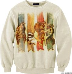 Harry potter sweatshirt with house mascotts