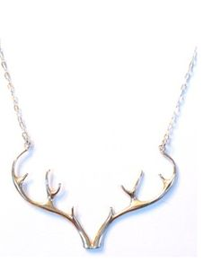 Sterling Silver Antler Necklace on @BRIKA