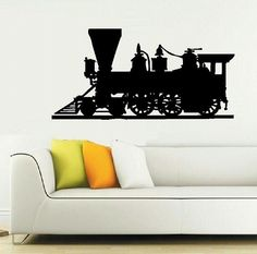 wall decal Locomotive Train Engine steam by WallDecalsAndQuotes