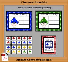 Printable Classroom Activities    Printable Color Sorting Mats for Daycares and Early Childhood Classrooms