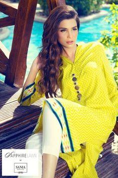 Sania maskatiya sapphire lawn, yellow