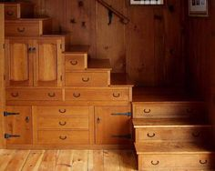 {step-chest style stairs} the most recognizable piece of japanese furniture is the kaidan tansu or step chest. it first appeared in the late 1700s in stores and homes with loft spaces. - very neat for farmhouse style