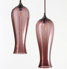 This range reveals the pure elegance and simplicity of handmade glass by harnessing the natural fluidity of the material. During the production process the glass is skillfully allowed to stretch whilst being blown into the final shape. Lanterns, Pendants, Range, Shapes, Pure Products, Lights, Elegant, Natural, Glass
