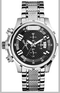 Men's Marc Ecko The Grid Chronograph Steel Watch M20074G1