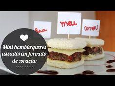 Mini hambúrgueres assados em formato de coração   Namorada Criativa - Por Chaiene Morais