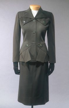 Suit, fall 1950 Designed by Gilbert Adrian (American, 1903–1959)